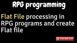IBM i, AS400 Tutorial, iSeries, System i - Flat File Processing in RPG program - Create Flat Files