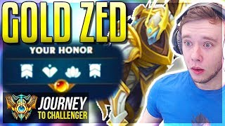 GOLDEN ZED! GOLDEN ZED! GOLDEN ZED! GOLDEN ZED! - Journey To Challenger | League of Legends