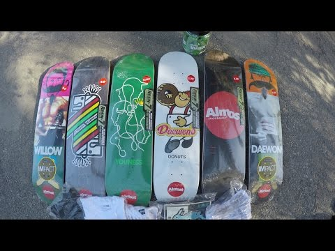 ALMOST SKATEBOARDS UNBOXING / SKATE TEST / GIVE AWAY