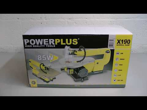 Unboxing the POWX190 PowerPlus Scrollsaw