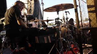 Dope - Bitch and Violence DRUM CAM Live at JJO Band Camp 2013