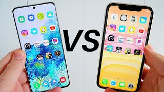 Galaxy S20 vs iPhone 11 Speed Test!