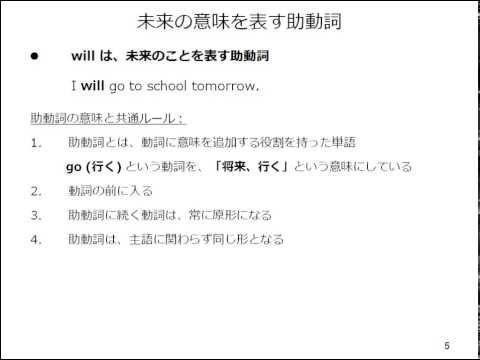 , title : '基礎編: 未来形1