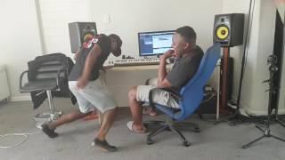 Hlomela Dance-Mlesho Kai 1 and Bongo Beats in Studio