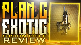 Destiny: Plan C Exotic Fusion Rifle Review! | Plan C Crucible Gameplay Review #LycanRC