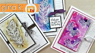 Gina K  Designs  & Unity Stamp Co - Emboss Resist Two Ways