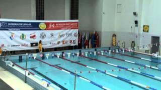 Modern Pentathlon Senior World Championships 2014 Warsaw - Swimming Group A - Day 3