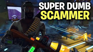 Very DUMB Scammer loses his 130s! 🤓👌(Scammer Get Scammed) Fortnite Save The World