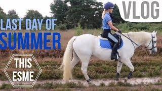 Vlog   Last Day Of Summer Trailride   This Esme