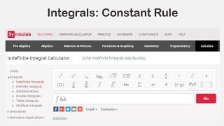 Integrals: Constant Rule