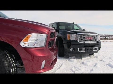 2013 GMC Sierra Denali vs Ram 1500 Pickup Compared
