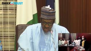 Video: Buhari''s 2018 budget signing speech