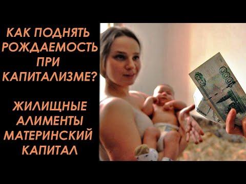 Как поднять рождаемость при капитализме? 3 варианта. Жилищные алименты. и Материнский капитал.