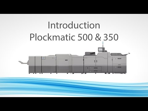 Plockmatic 500 / 350 Booklet Makers Mp3