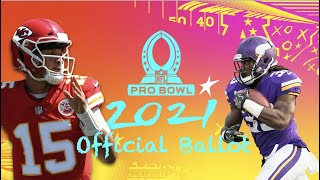 NFL PRO BOWL 2021 OFFICIAL BALLOT!! WHO DO WE VOTE FOR / CHANNEL UPDATE