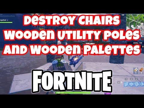 Destroy Chairs Destroy Utility Poles Destroy Wooden Pallets
