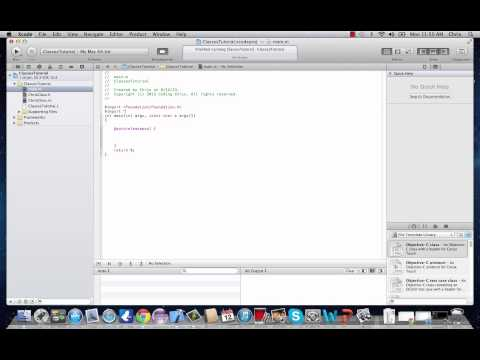 Objective-C Programming Tutorial 5- Intro To Classes, Objects, and Methods