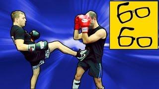 Бой с левшой в кикбоксинге  — урок кикбоксинга Юрия Караваева по работе против левши
