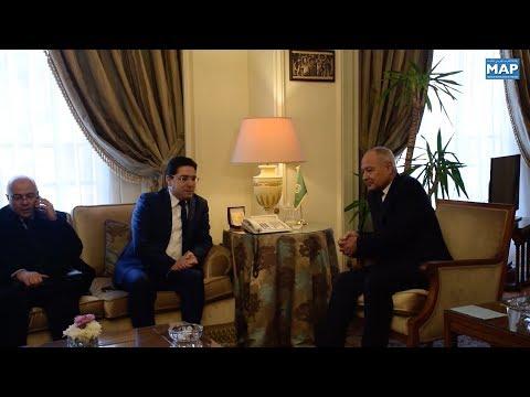 السيدان بوريطة وأبو الغيط يبحثان بالقاهرة تطورات الأوضاع في المنطقة العربية