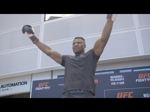 Highlights de l'entrainement libre de l'UFC on ESPN 1