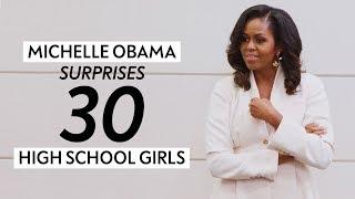 Michelle Obama and Oprah Surprise 30 High School Girls   Oprah Mag