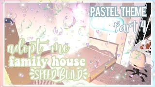 Adopt Me Pastel Family House Speed Build Part 4 ♡ | Roblox