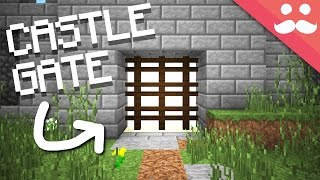 How to make a Castle Gate in Minecraft!!