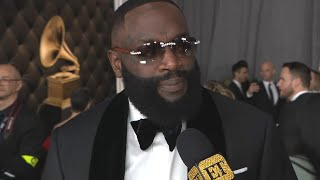 ET spoke with Rick Ross ahead of the 2020 GRAMMY Awards, which air Sunday, Jan. 26, on CBS.  Exclusives from #ETonline : https://www.youtube.com/playlist?list=PLQwITQ__CeH2Y_7g2xeiNDa0vQsROQQgv