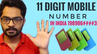11 digit Mobile number in india next year | No more 10 Digit mobile number in india