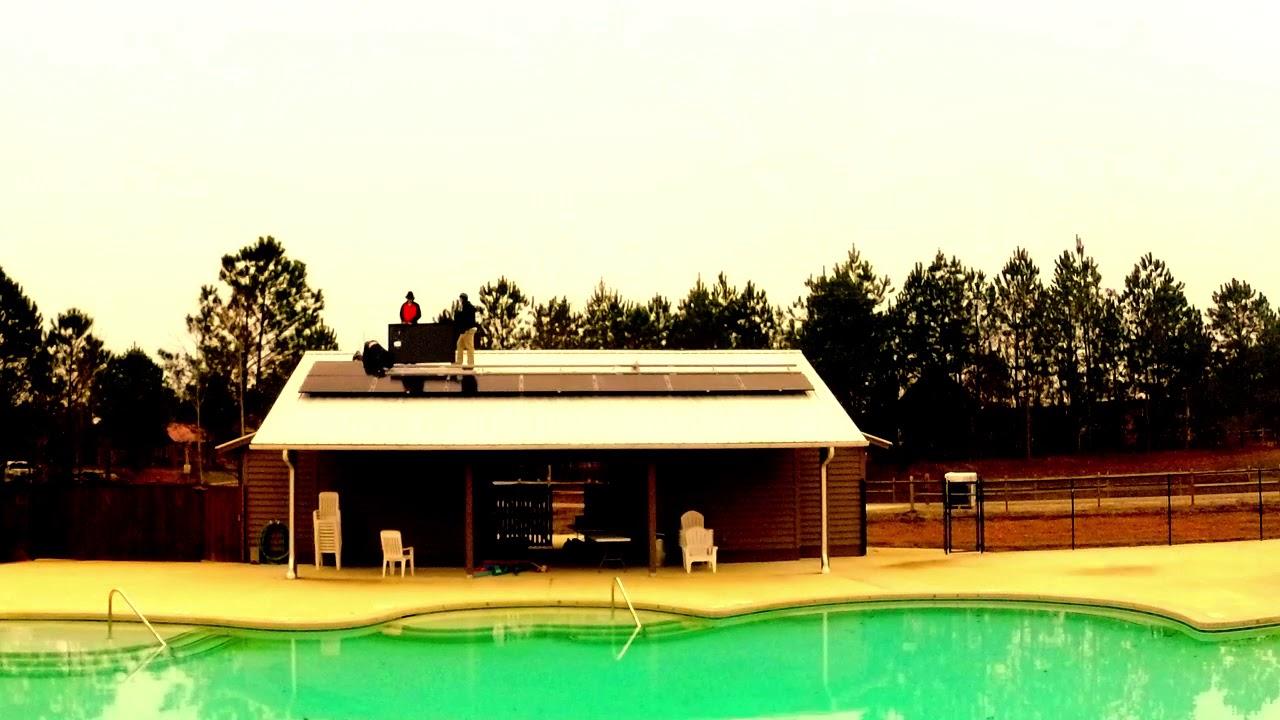 St. John's Pool House Time Lapse Solar
