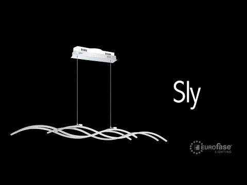 Video for Sly Silver LED Four-Light Pendant