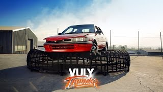 Vuly Thunder Car Drop - Can your trampoline do this?!