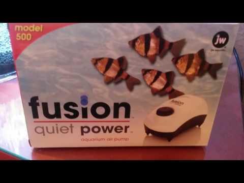 Tetra whisper air pump vs fusion quiet power