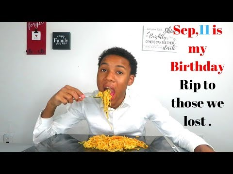 BORN ON SEP 11 2X SPICY NOODLE MUK BANG STORYTIME  |EATING SHOW|
