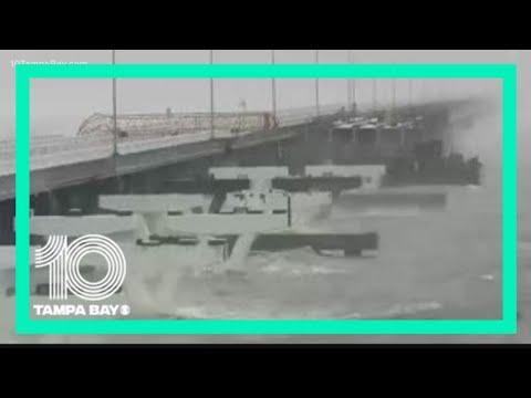 Florida Sheriff: Hurricane Sally knocks out section of Pensacola's new Three-Mile Bridge