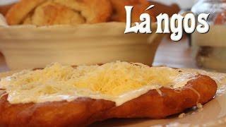 Lángos (Fried Dough /Hungarian Street Food)
