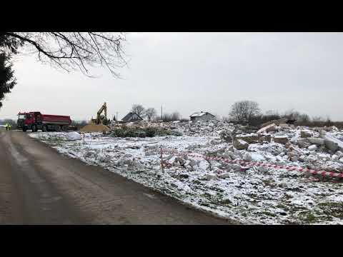 Wyburzanie budynków na ul. Wojskowej