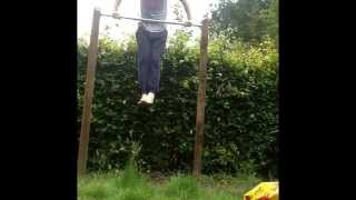 diy pull up bar on trees most popular videos