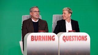 Steve Carell Answers Ellen's 'Burning Questions'