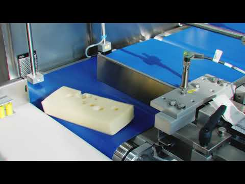 Block cheese in flowpack