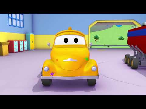Pickle is Wonder Woman - Tom the Tow Truck's Paint Shop - Car City ! Cars and Trucks Cartoon for kid