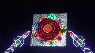 preview picture of video 'Colourful LED Lighting At Chandannagar Jagaddhatri Puja 2014 - Part 1'