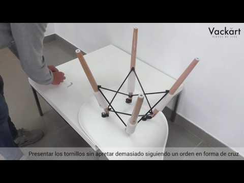 Vackart  Video montaje Silla Inspiración DSW Eames
