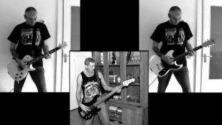 Anti Nowhere League - Pig Iron (bass & guitar collab cover)