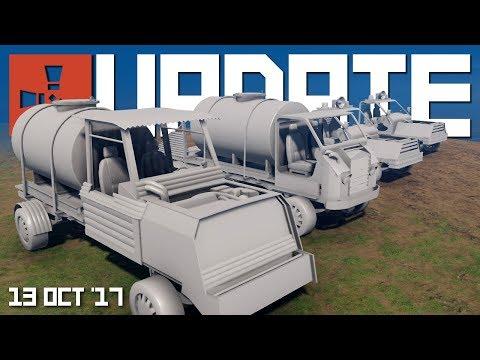 New modular cars and Blueprint balancing | Rust update 13th October 2017