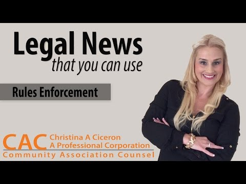 Legal News You Can Use – Rules Enforcement