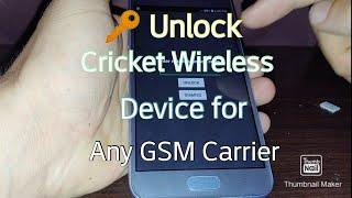 How to Unlock cricket wireless phone