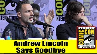 Andrew Lincoln Announces Hes Leaving WALKING DEAD This Season  | Comic Con 2018