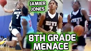 8TH GRADER Jamier Jones Shows NO MERCY! Runs With EYBL's E1T1 And Absolutely DOMINATES 😤