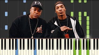 Still D R E Dr Dre featuring Snoop Dogg Piano Tutorial Synthesia Video